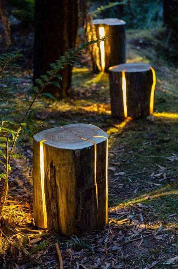 Diy Crafts Cracked Log Lamp 27 Diy Reclaimed Wood