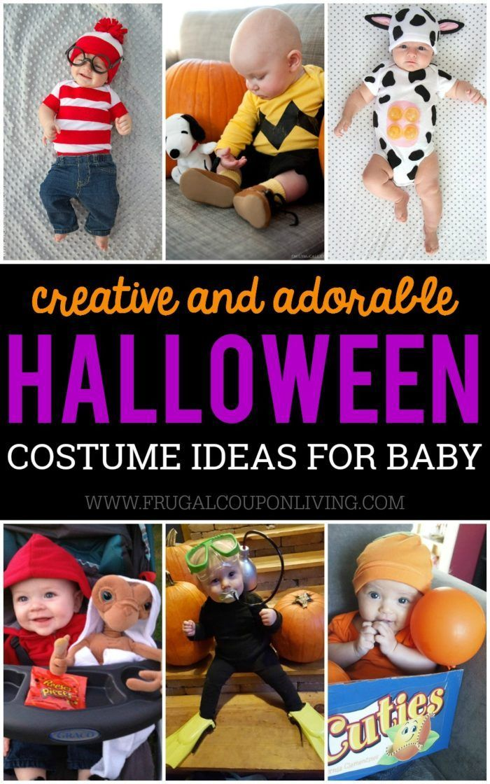 Creative Baby Halloween Costume Ideas and where to buy them. A fun mix of Homema...