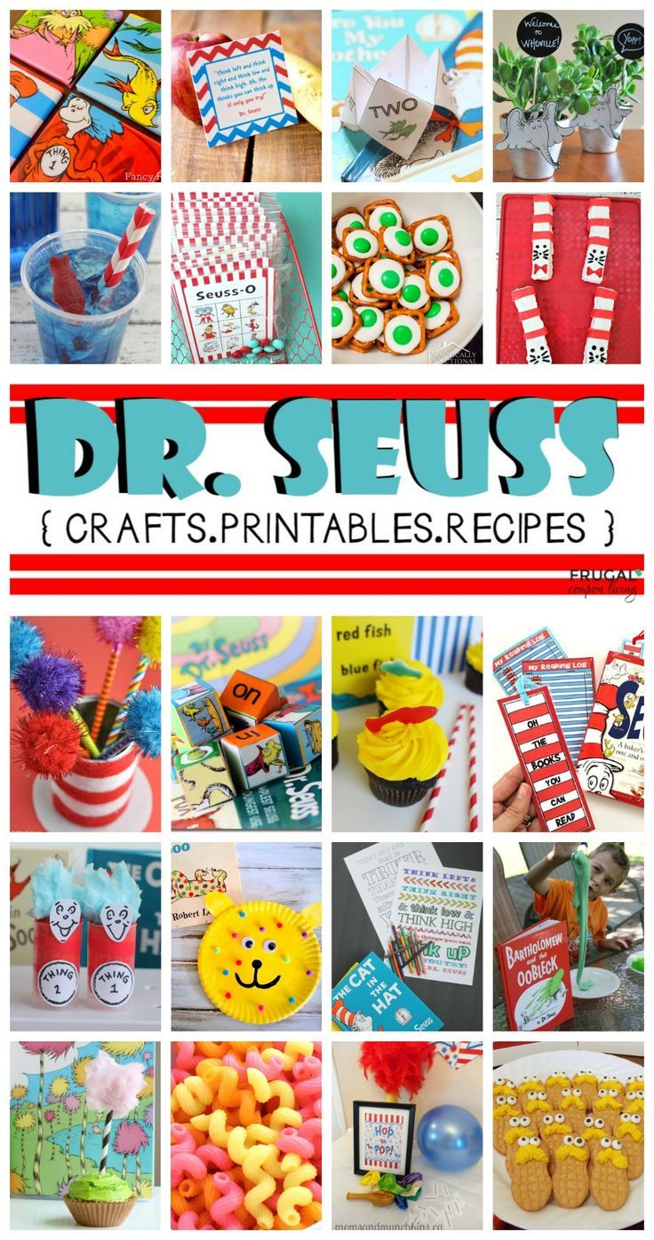 Creative Dr. Seuss Crafts, Printables and Recipes. Are you getting ready for you...