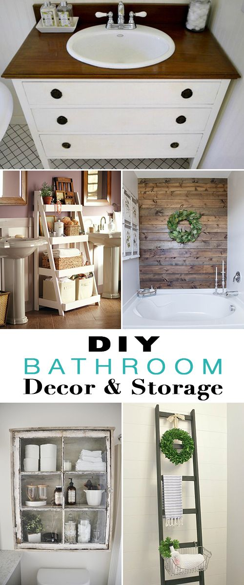 DIY Bathroom Storage & Decor • Tutorials and projects for making your bathroom...