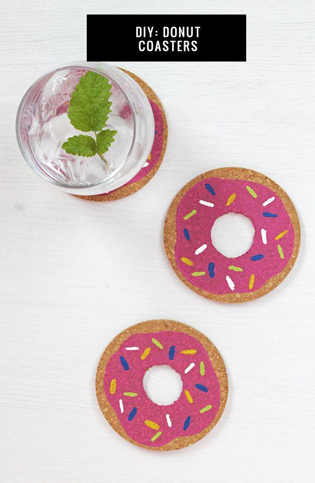 Diy Crafts Diy Donut Coasters Diyall Net Home Of Diy Craft