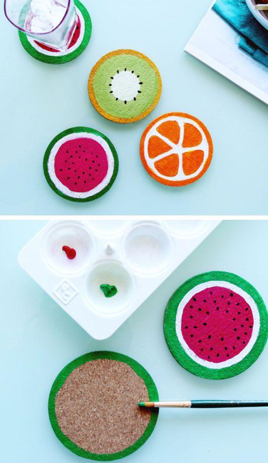 Diy Crafts Diy Fruit Coasters Click Pic For 19 Diy Summer Crafts