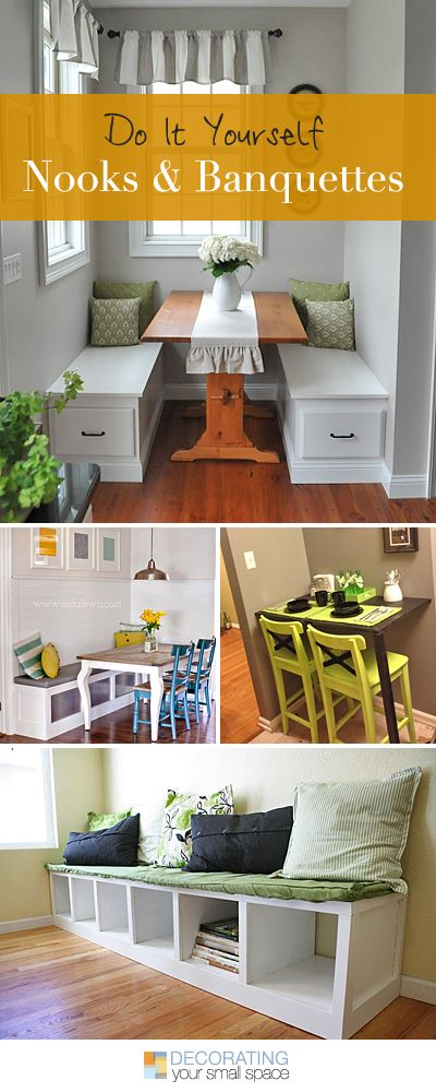 DIY Nooks and Banquettes • Ideas & Tutorials! • Build your own kitchen nook ...