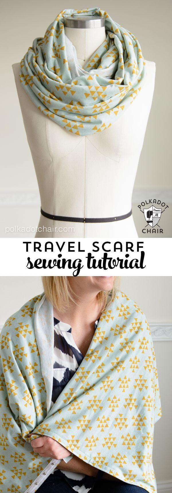 DIY Snap Up Infinity Scarf sewing pattern by Melissa of polkadotchair.com - perf...