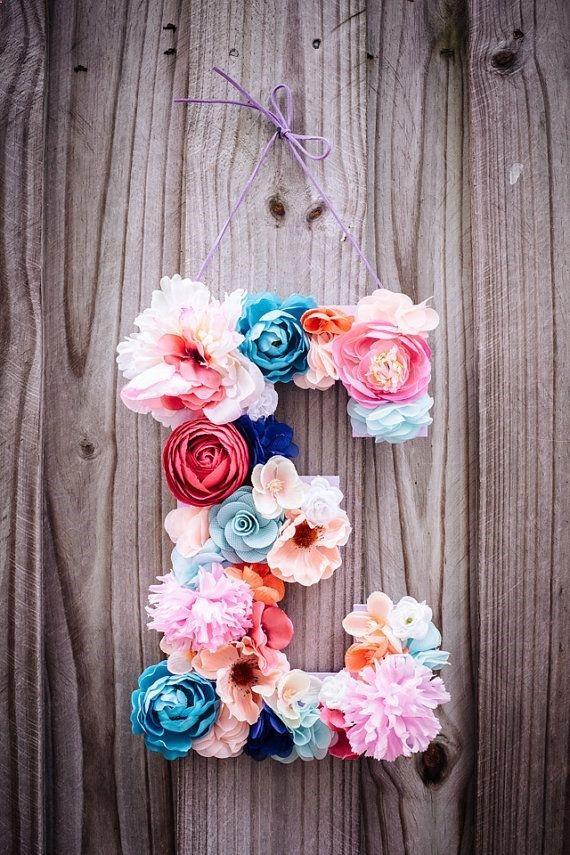 DIY Super Easy Floral Monogram