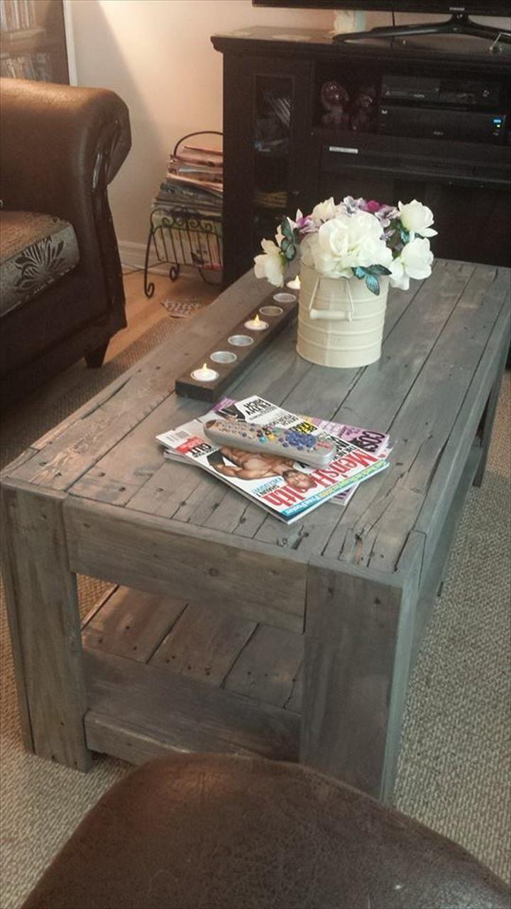 DIY Wood Pallet Coffee #Table | 101 Pallet Ideas