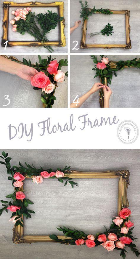 DIY floral frame