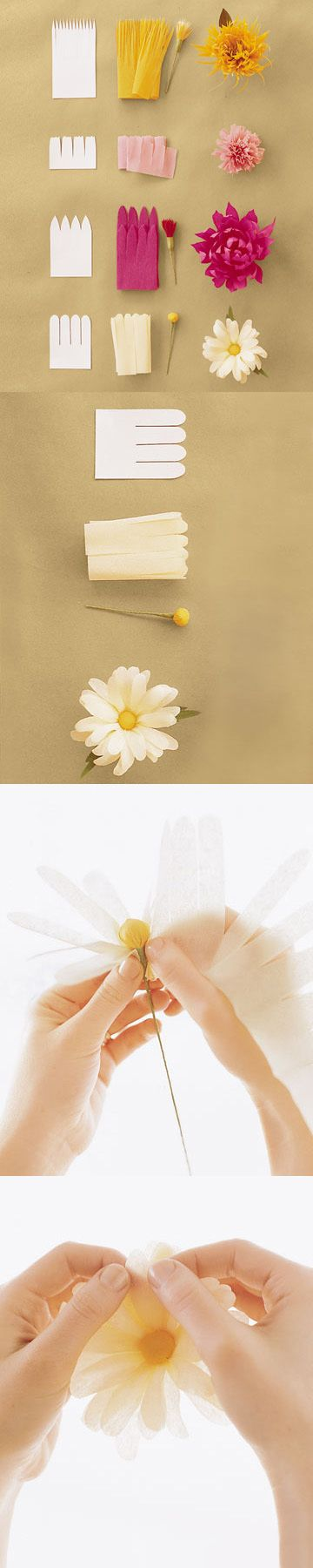 DIY: paper flower tutorials #paper_crafting #flowers