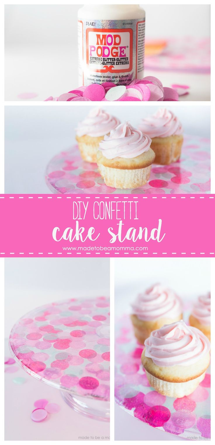 Diy Crafts Diy Confetti Cake Stand A Simple Diy Craft Project