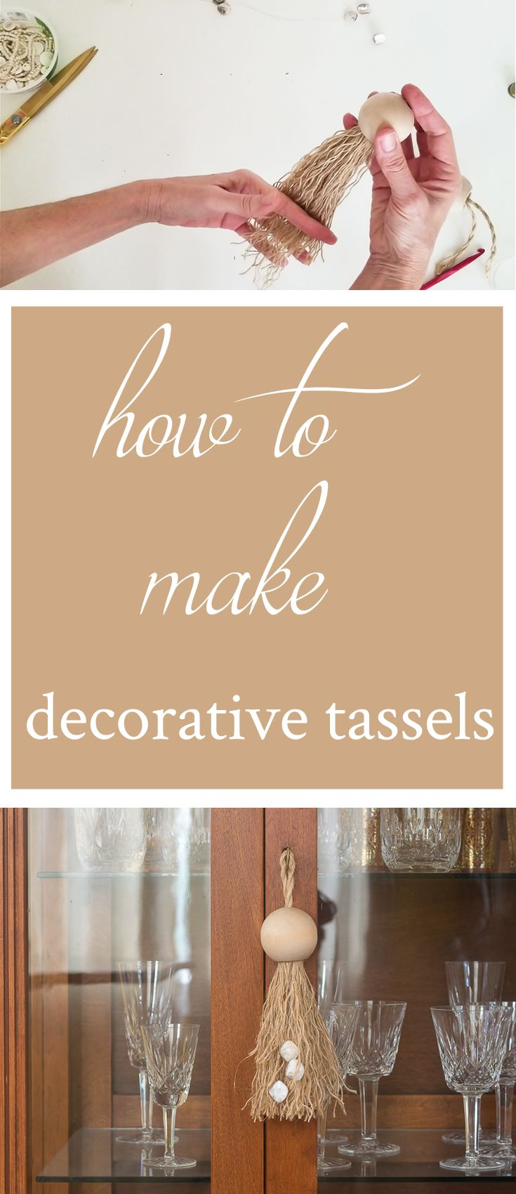 Easy DIY Decorative Tassels with Large Wood Beads • Nourish and Nestle #diydec...