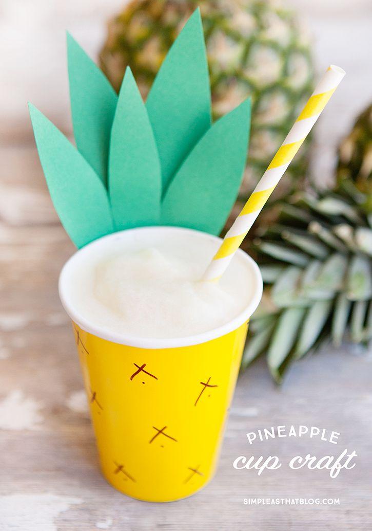 Diy Crafts Easy Pineapple Paper Cup Diyall Net Home Of Diy