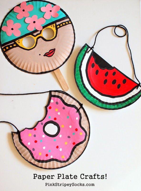 Diy Crafts Easy Summer Paper Plate Kids Crafts Mask Watermelon