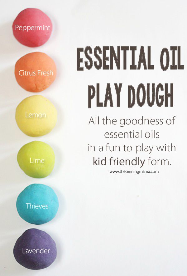 Essential oil play dough- fun for kids and also a great stress reliever for us a...