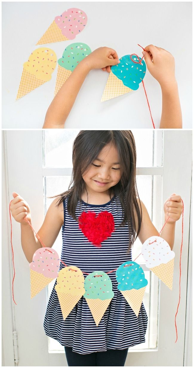 Free Printable Ice Cream Cone Garland