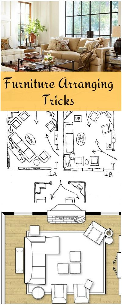 Furniture Arranging Tricks! • Great tips and ideas on how to arrange furniture...