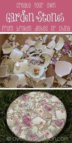 How to Create Beautiful Garden Stones - come see the tutorial on how I turned th...