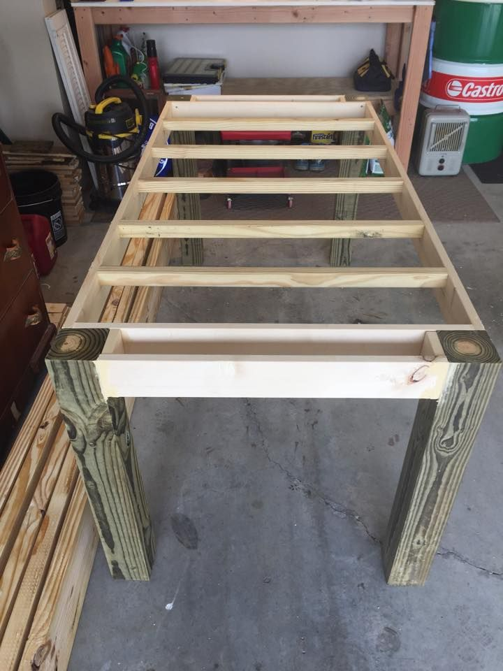 How To Make Your Own Farmhouse Table Base Structure For Building Ours
