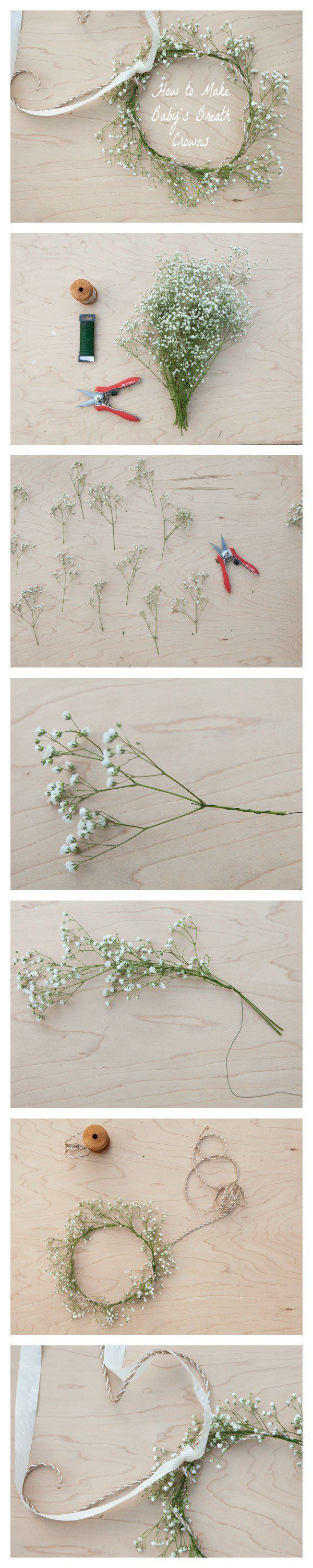 How to Make a Baby's Breath Crown #DIY