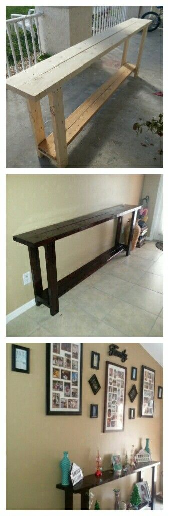 I wanted a wood entry table without breaking the bank! I was searching for one t...