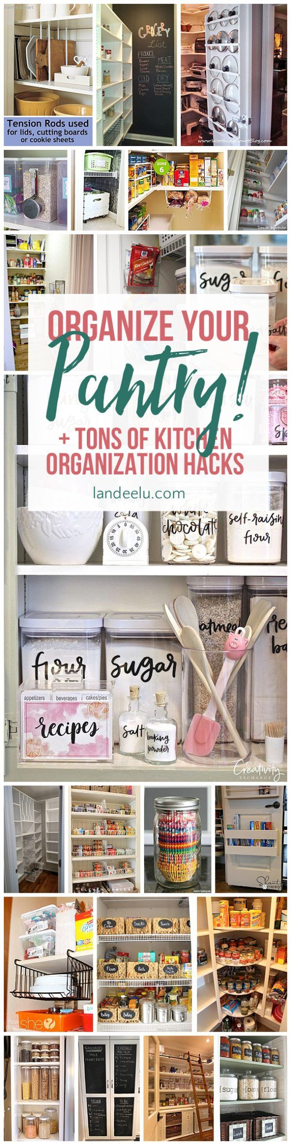 Love these ideas for kitchen organization... that pot lids one is genius! #kitch...
