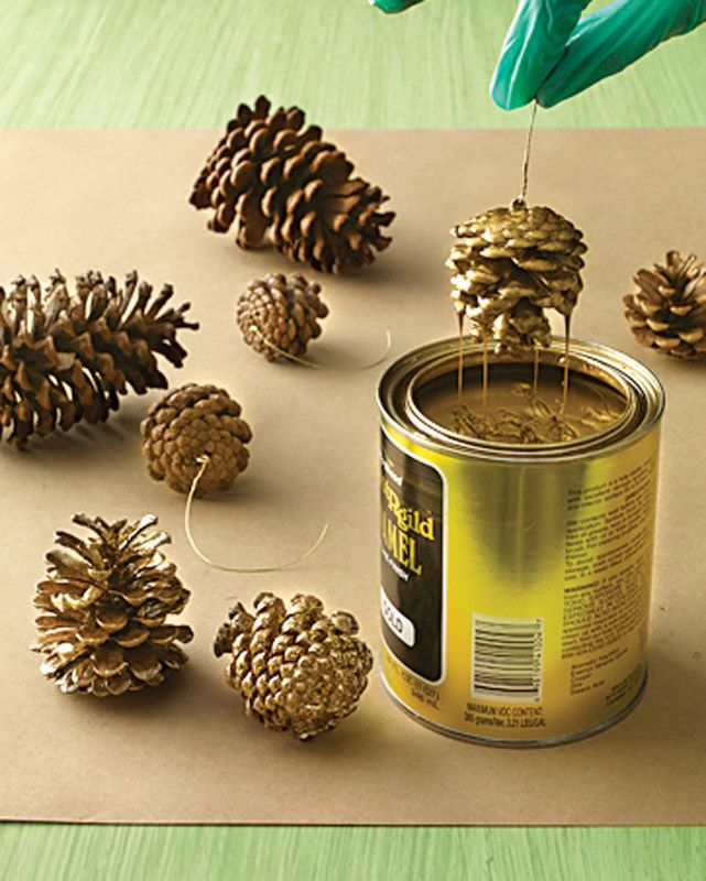 Diy Crafts Martha Stewart Shows You How To Make Gilded Pinecones Perfect For Fall And Holi Diyall Net Home Of Craft Ideas Inspiration Projects