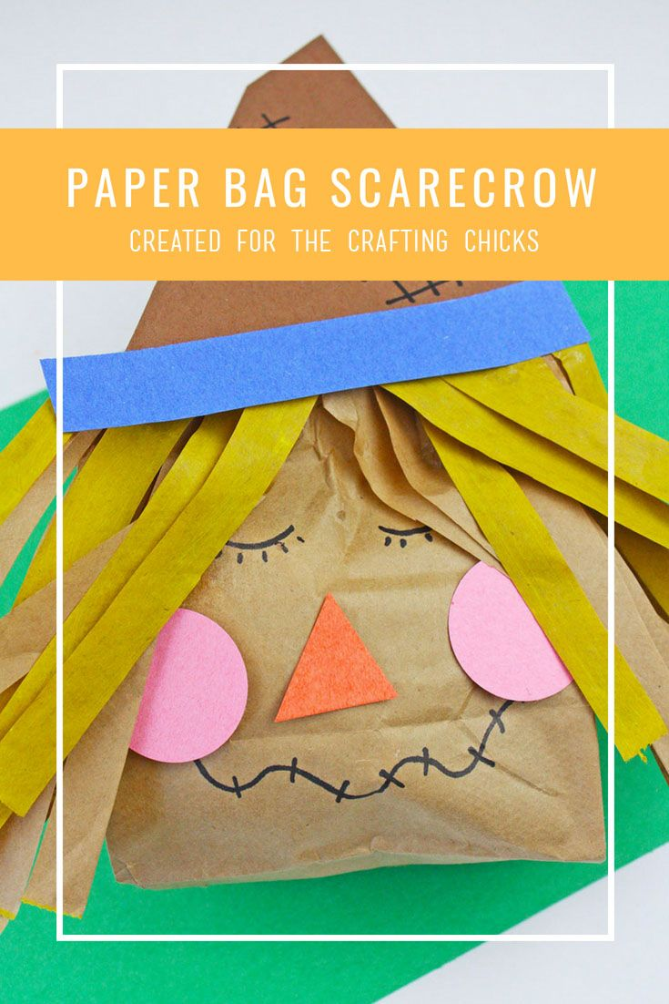 Paper Bag Scarecrow Craft   A simple, fun preschool craft for the Fall.  Paper B...