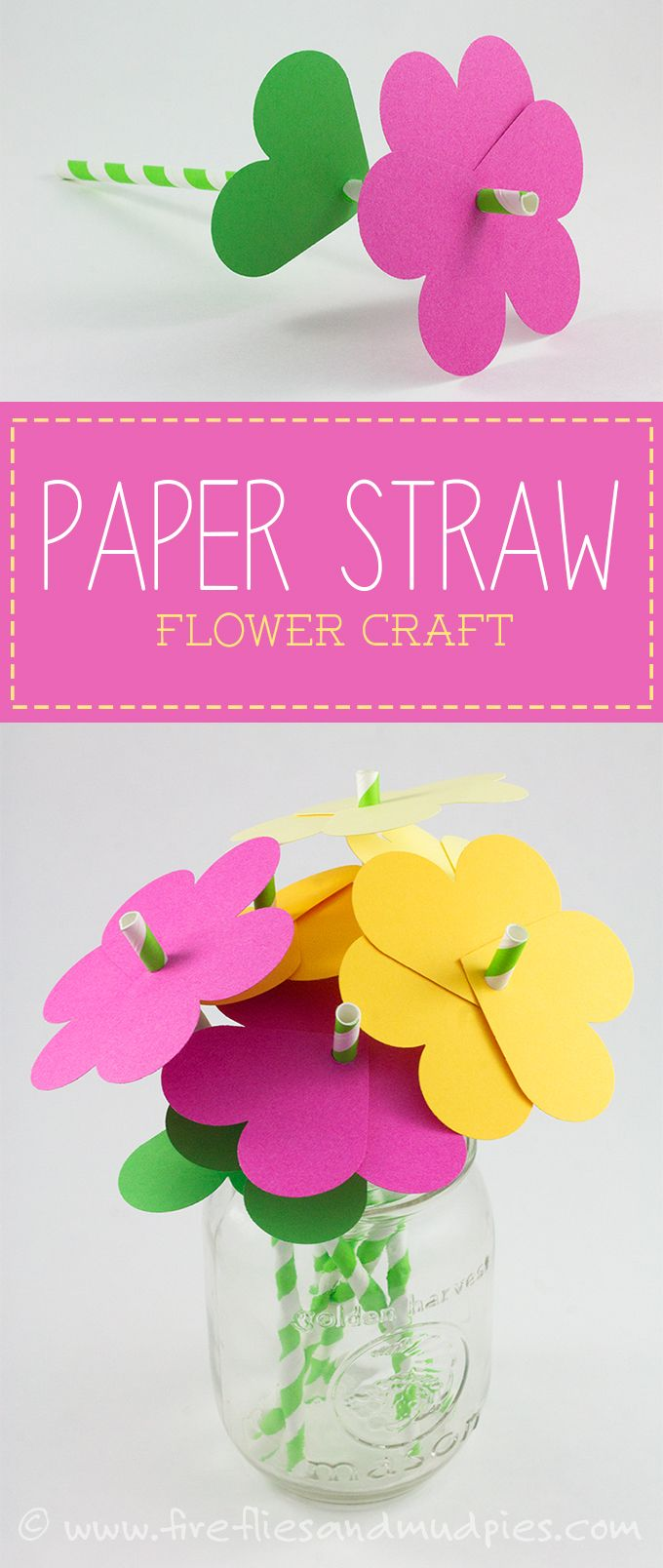 Diy Crafts Paper Straw Flower Craft Perfect For Spring