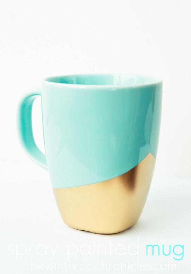 Spray painted mug