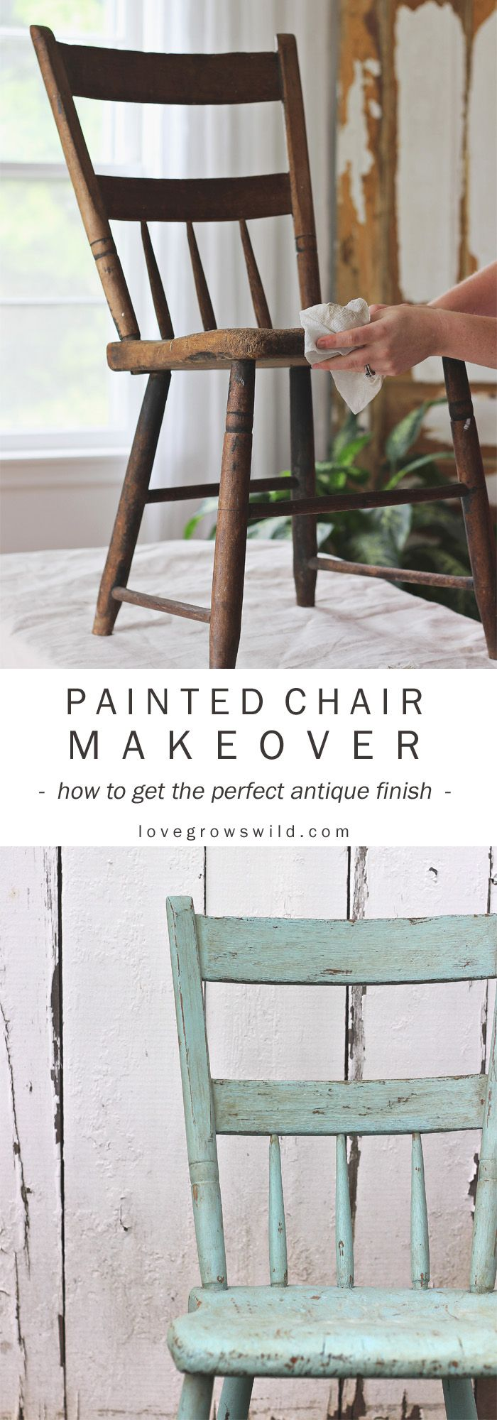Step-by-step instructions for painting furniture in a gorgeous antique finish! S...