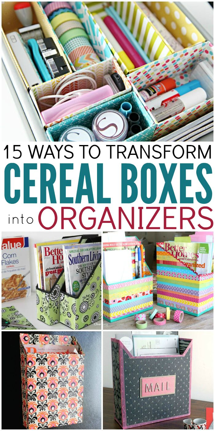 Diy Crafts Stylish Ways To Upcycle Cereal Boxes And Turn Them Into