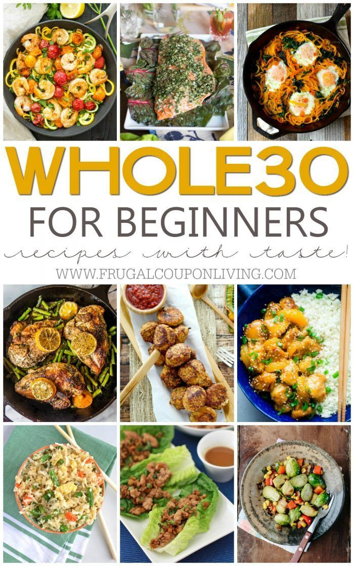 Whole30 Recipes for Beginners. Easy and Healthy Recipes without processed foods....
