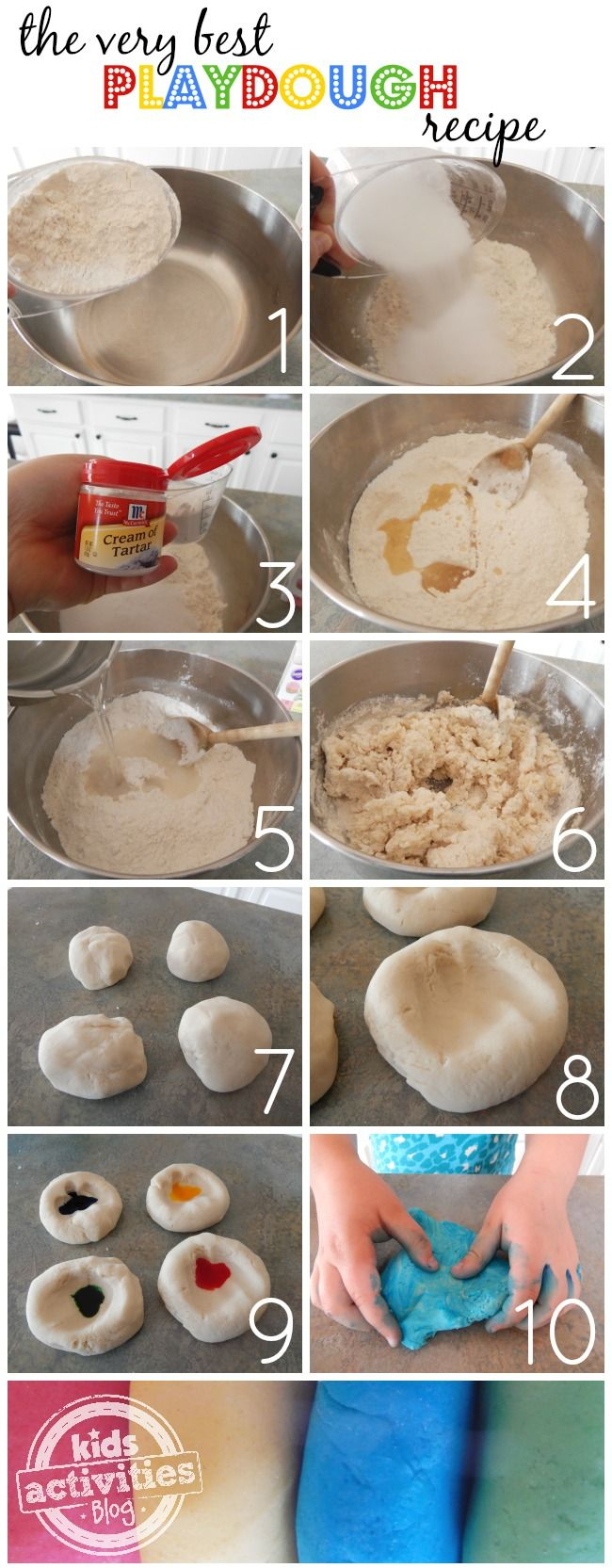 The very best play dough recipe.