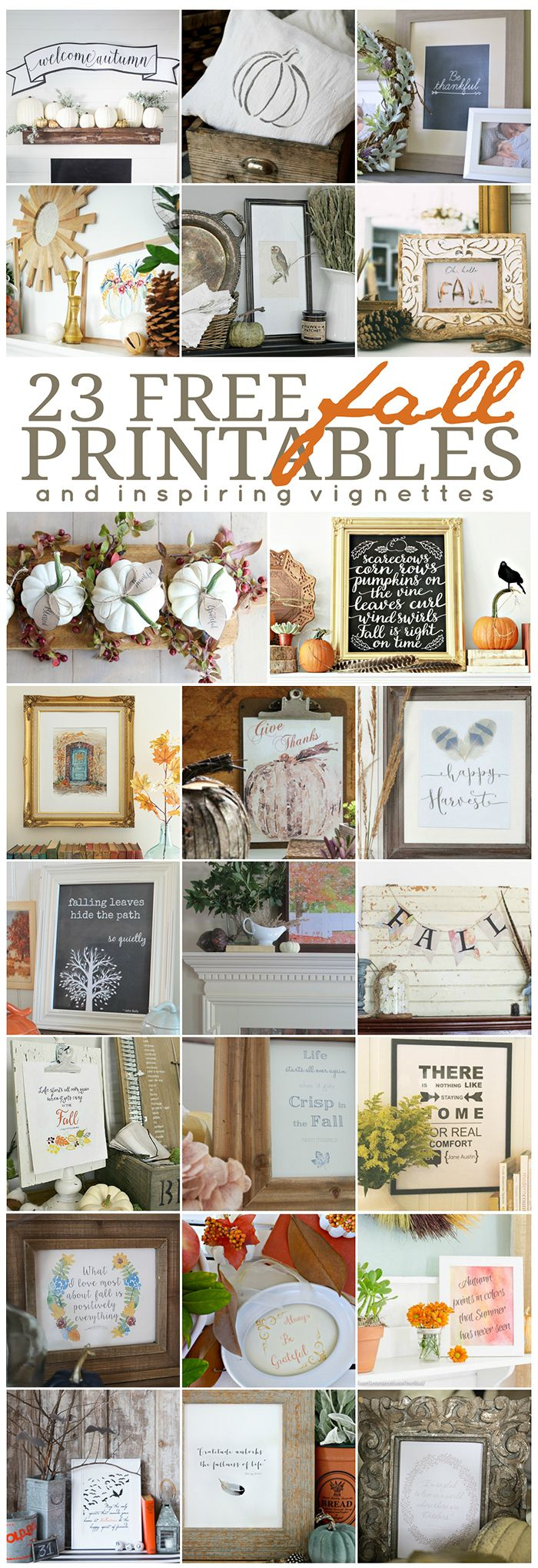 These Free Printables are the perfect way to add little Fall touches to your hom...