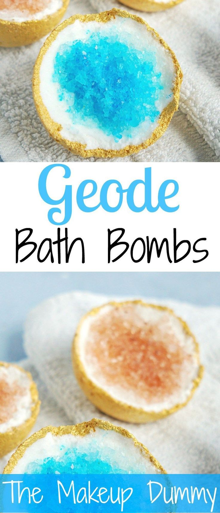 THIS IS SO EASY!! These look so beautiful! How To make your own DIY Geode Bath B...