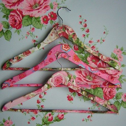 To Do: Decoupage old wooden hangers as gifts.
