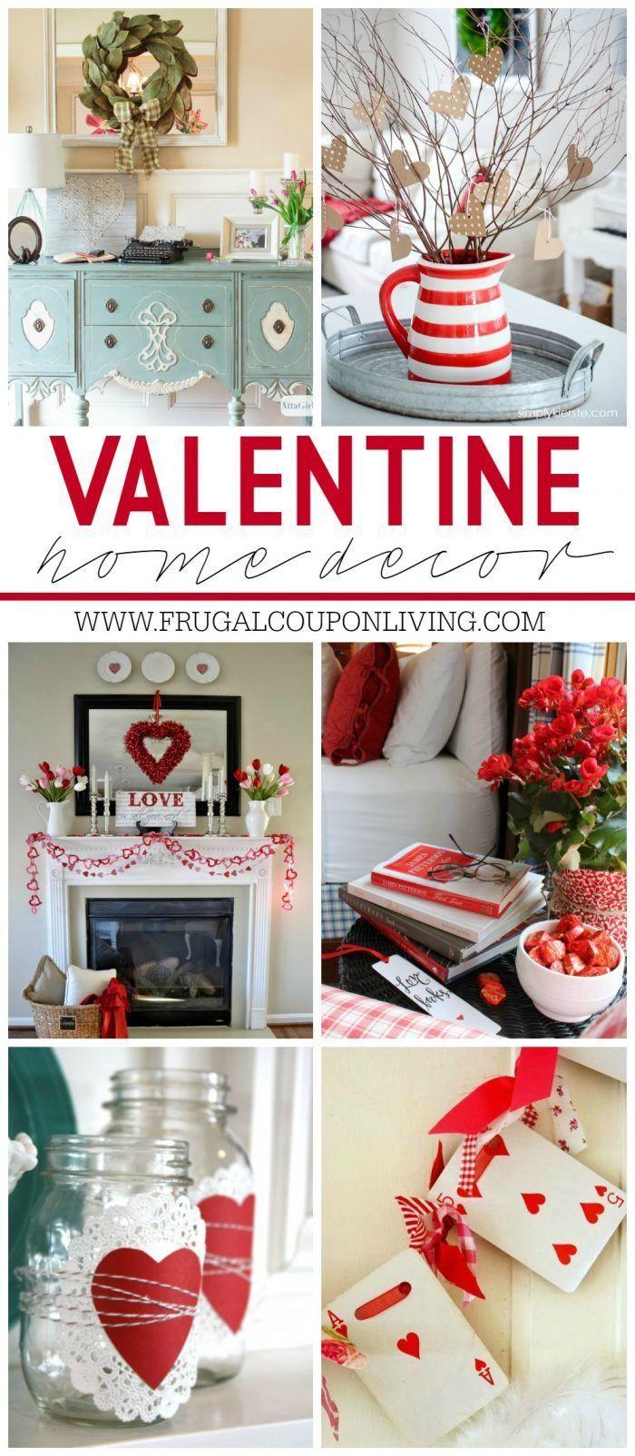 Valentine Home Decor Ideas on Frugal Coupon Living plus FREE Valentine's Day Pri...