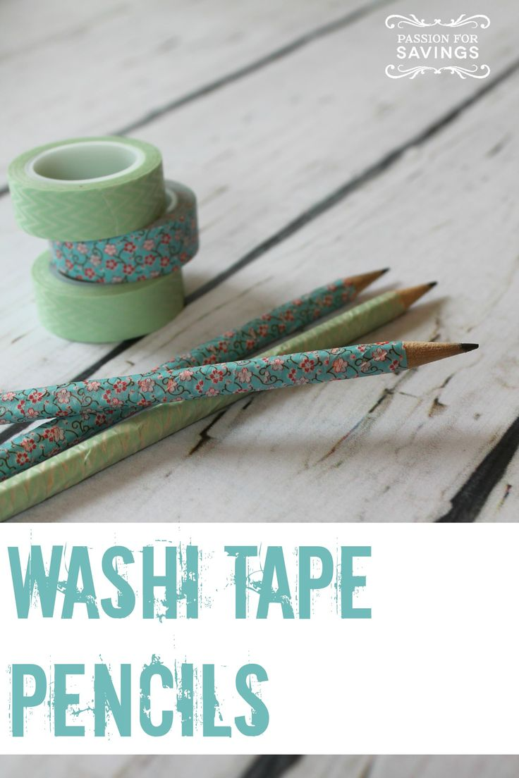 Washi Tape Pencils are a fun activity for kids this summer & a great Teachers Gi...