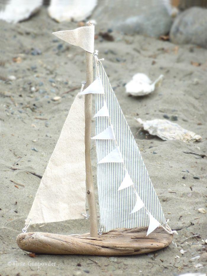 driftwood sailboats.