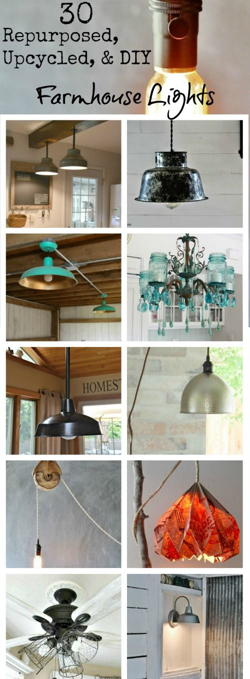 farmhouse lights and lamps via Knick of Time