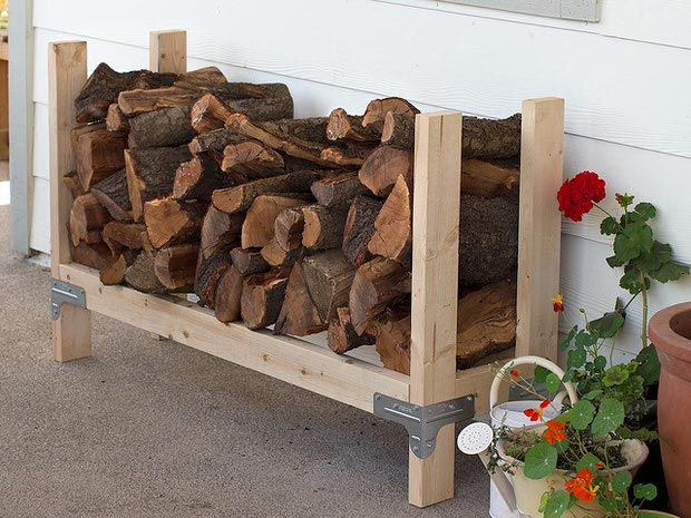 9 Simple #DIY Ideas for #Outdoor #Firewood Holder
