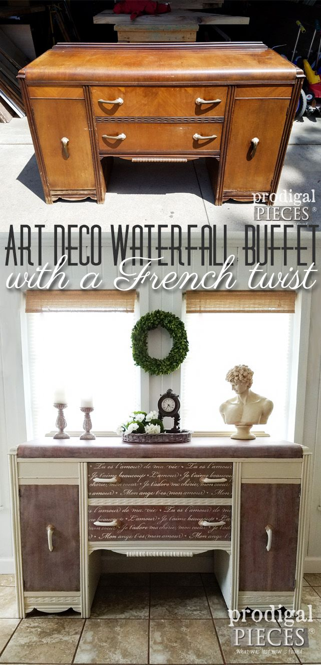 Art Deco never looked so good! This vintage waterfall buffets gets a French twis...
