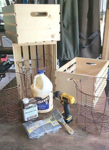 Awesome DIY crate storage unit! So easy. #DIY #furnitue #storage #organization
