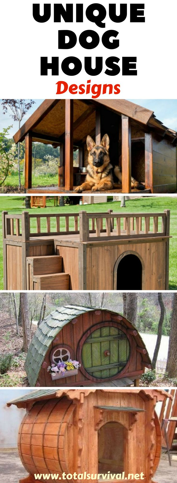 DIY, DIY Ideas, Home and Household Tips: The 25 Best Unique Dog House Designs. I...