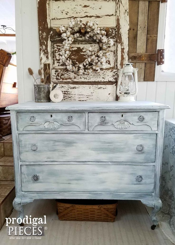Damaged Dresser Made New with Farmhouse Chic Makeover by Prodigal Pieces | www.p...