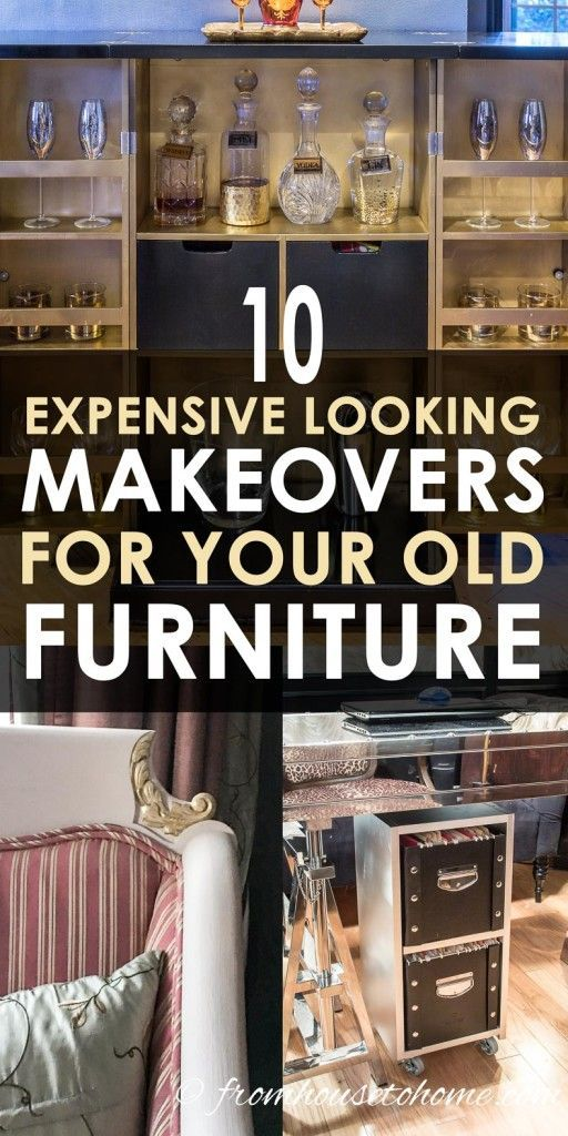 GREAT creative furniture makeover ideas that are easy to do and look beautiful! ...