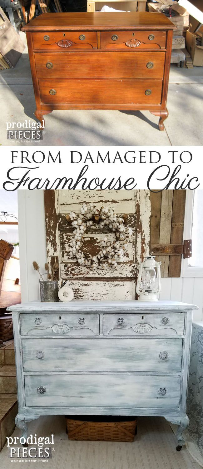 Get the Farmhouse Chic Look with this Tutorial by Larissa at Prodigal Pieces | w...