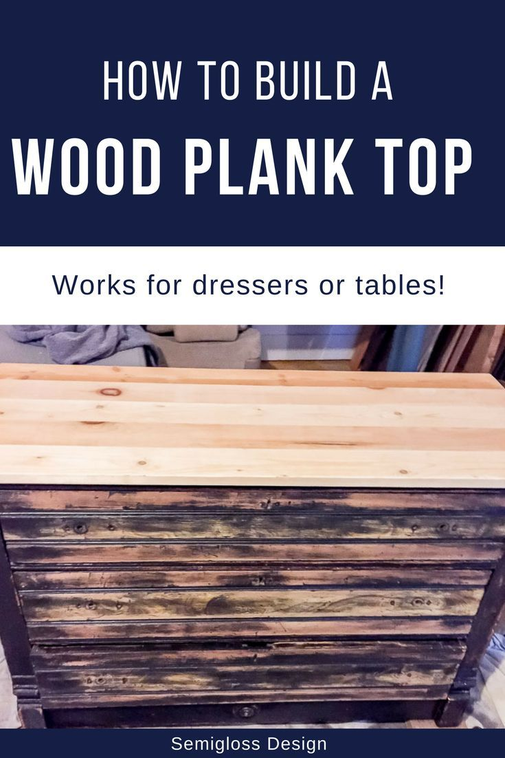 Have you ever run across a dresser that has a missing or damaged top? Or a table...