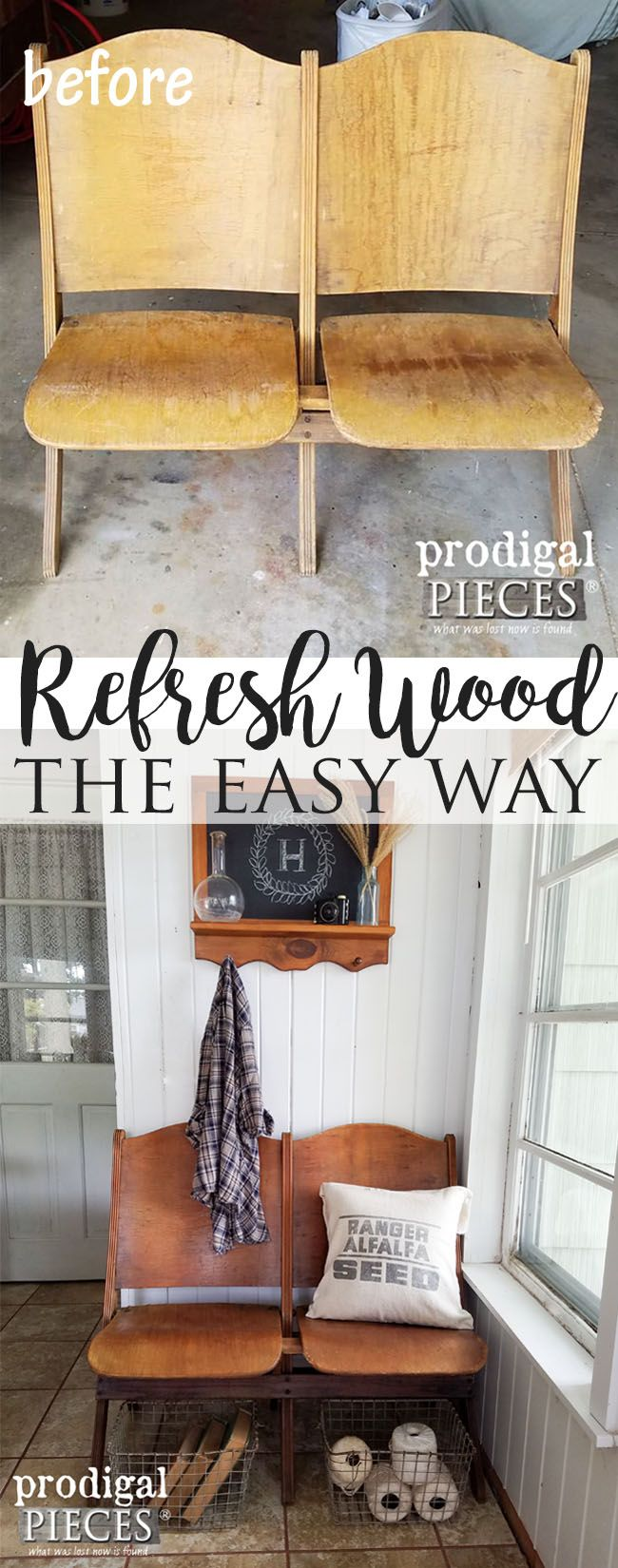 How to Refresh Old Wood with One Ingredient by Prodigal Pieces   www.prodigalpie...