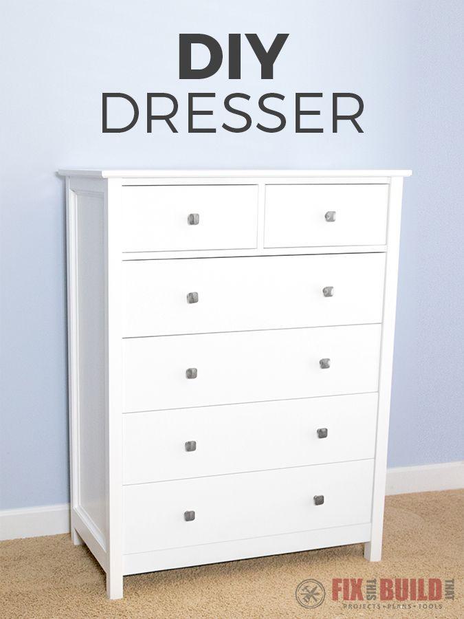 How to build a DIY Dresser. I'll show you how to make a 6 drawer tall dresse...