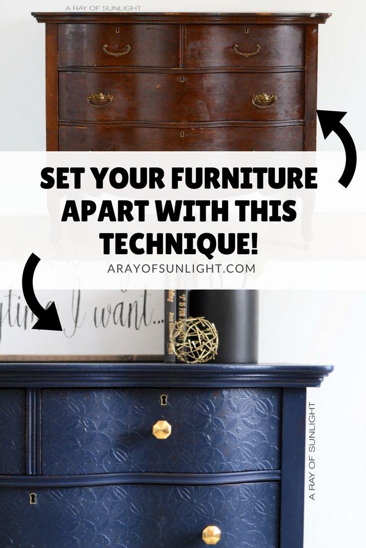 Diy Furniture Navy Blue Antique Serpentine Dresser With